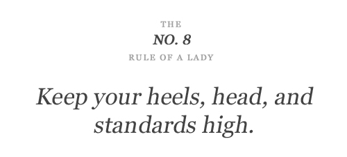 the no 8 rule of a lady