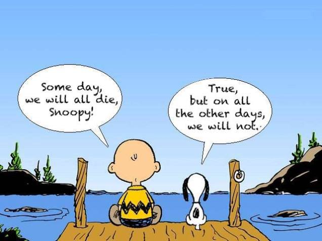 Some day we will all die Snoopy